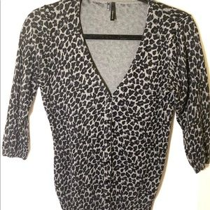 Maurice's Leopard button up sweater size M